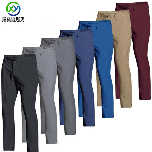 Custom men's New Style 2021 Quick Dry Golf Pants Wholesale Oem Golf Trousers Men