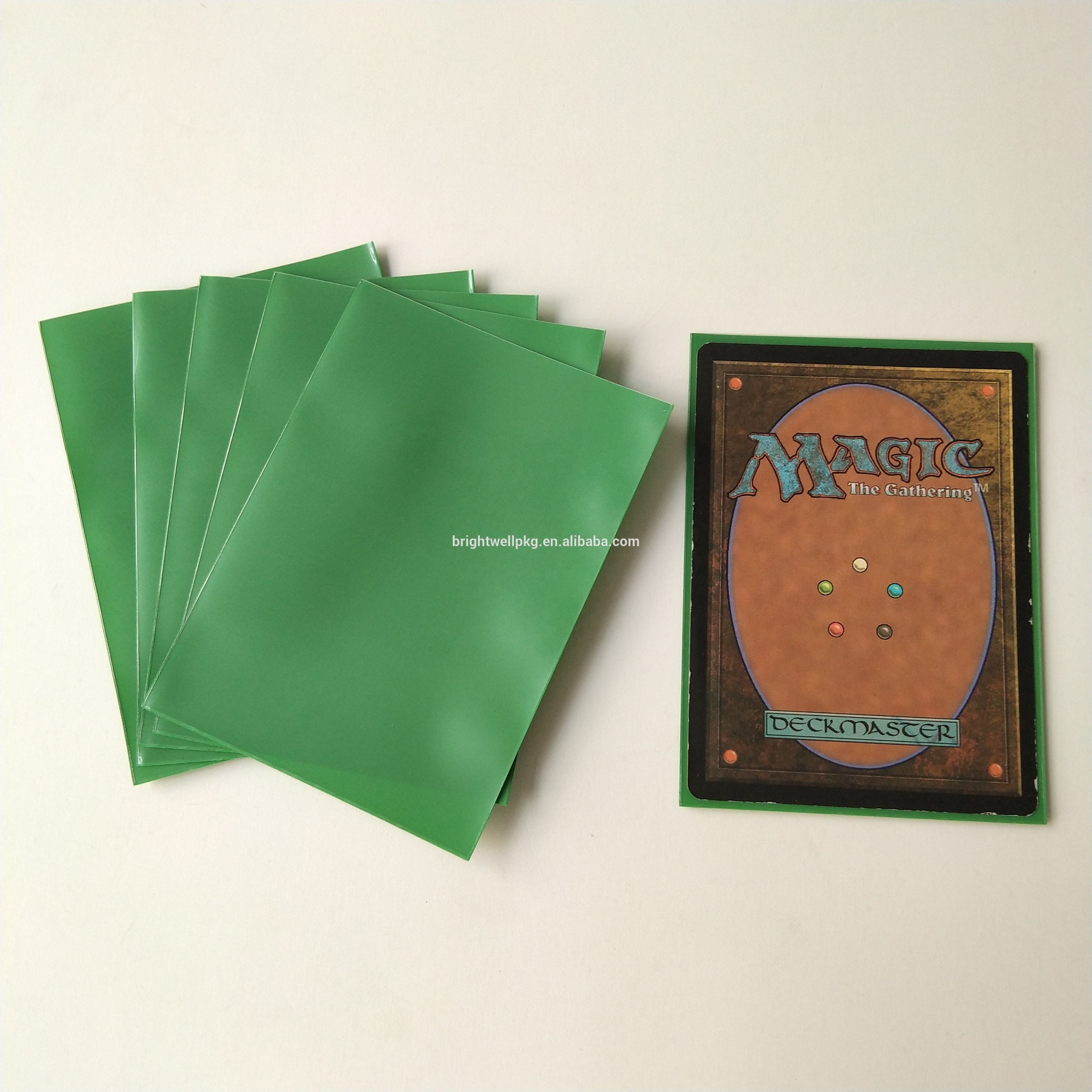 Green Color Matte smd, smt) 데크 Guard Sleeves 대 한 Standard Size 게이밍 Card 63.5x88mm