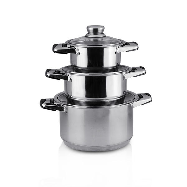 Glass cover cheap soup pots Stock Cookware Set Stainless Steel