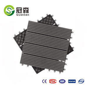 WPC diy tile garden swimming pool decoration deck wood plastic composite DIY tiles 310*310mm wpc interlocking decking tiles
