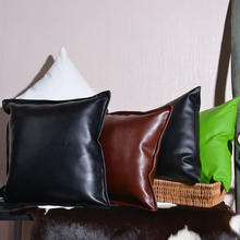 Luxury leather PU leather pillow car & sofa cushion can be customized