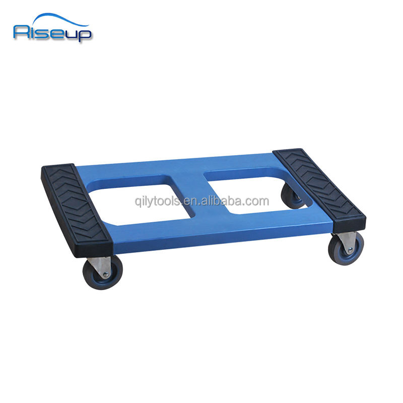 1200 lbs Plastic Movers Dolly with Rubber Covers General purpose dolly