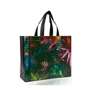 Promotional Customized Laminated Eco Fabric Tote Non-Woven Shopping Bag in stock