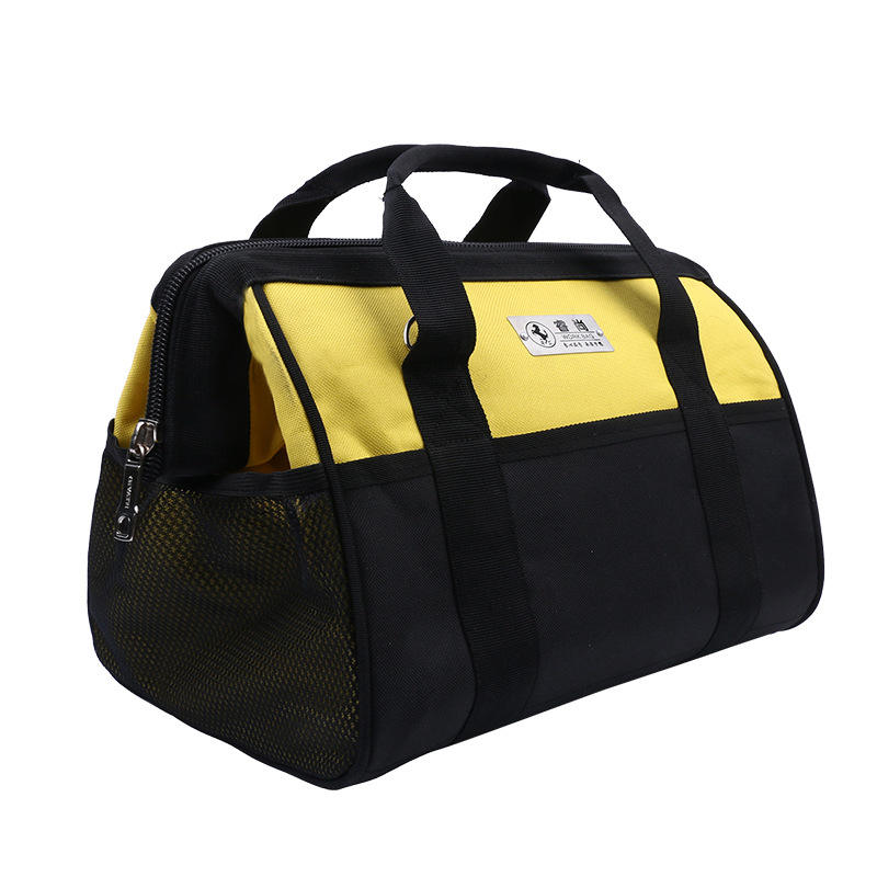 China wholesale canvas car electrician garden tool bag,custom painters construction carpenters kit tool bag