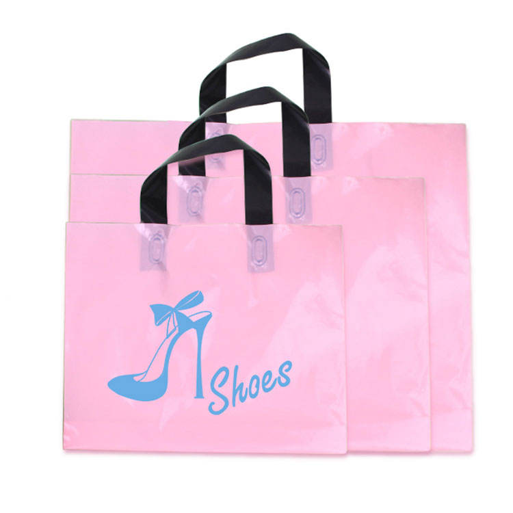 Cheap Shopping Custom Printing Soft lope HDPE/LDPE Plastic Bag With Logo