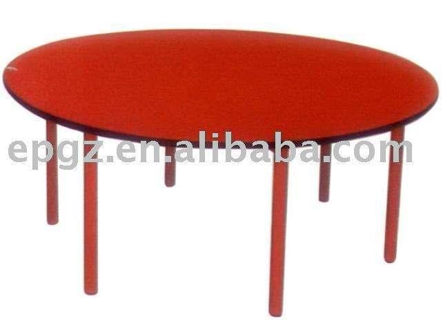durável baratos escola de madeira mesa redonda chilren mesa de estudo para as crianças móveis