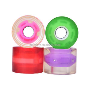 Pembuatan 60 Mm Flash LED Light Up Skateboard Longboard Roda