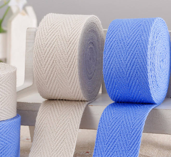 1 inch Cotton Twill Herringbone Webbing Tape