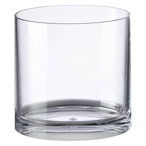 Waterproof Simple Fashion Design Transparent Durable Clear Acrylic Oval Trash Can