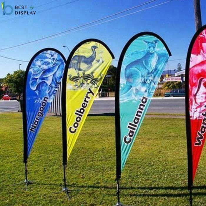 Event Advertising Beach Flying Banner/tear drop flag/Outdoor teardrop beach Banner