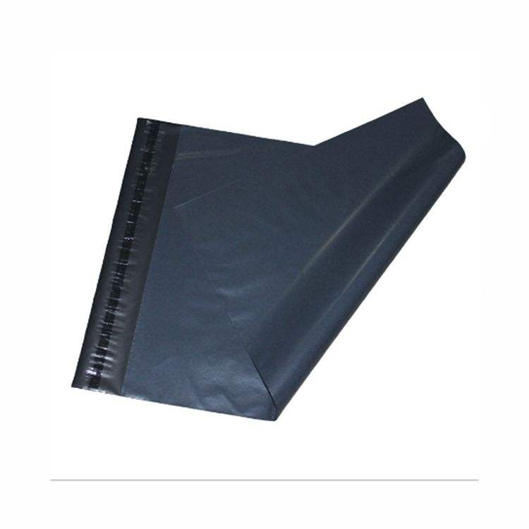 wholesale custom printed logo designs matt black poly mail courier envelope hdpe plastic packaging bag for delivery