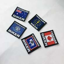Personalized Factory Design cool clothing accessories custom biker patches embroidery letter patch