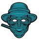 EL Panel Flashing Mask Sound Control Up Scary Halloween Cosplay Light up Costume Mask For Masquerade Glowing Party
