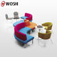 Modern colorful fabric hotel lunch library coffee shop/ office reception sofa, commercial use sectional sofas