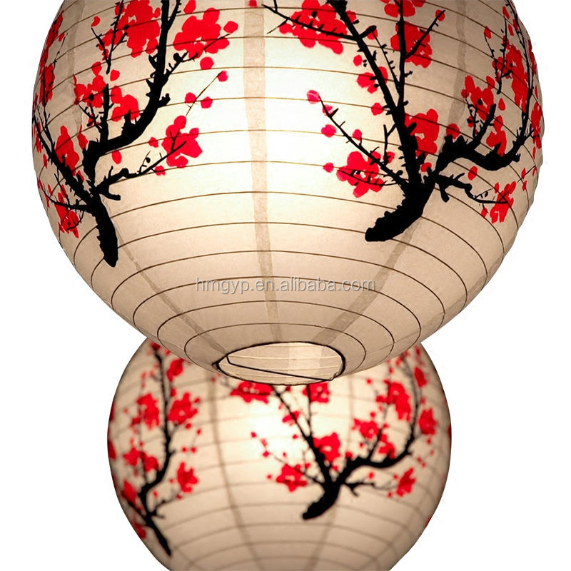 2019 Wholesale cheap paper lanterns Chinese round lanterns wedding paper lanterns.