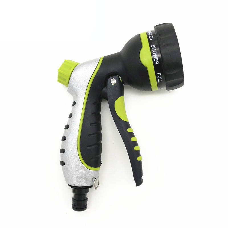 Garden Hose Hand Sprayer Heavy Duty Watering Nozzle High Pressure 8 Adjustable Watering Patterns Spray Nozzle