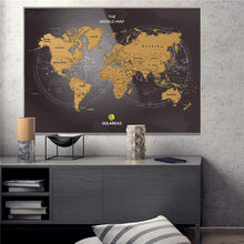 Solareas Scratch Off Map of The World 33x23 Travel Tracker Maps Gift for Travelers Unique Packaging World Map Scratch
