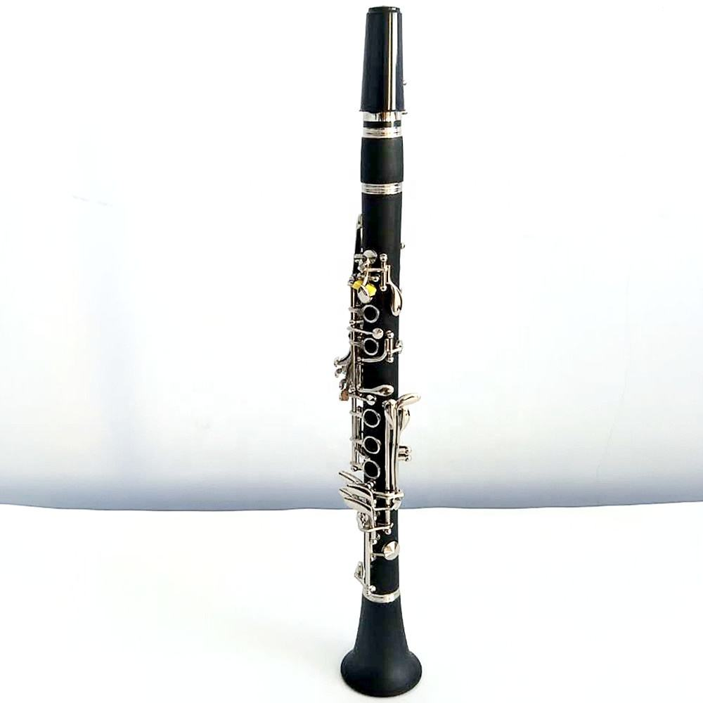 Best high pitch clarinet hard rubber nickel plated Eb17 key clarinet