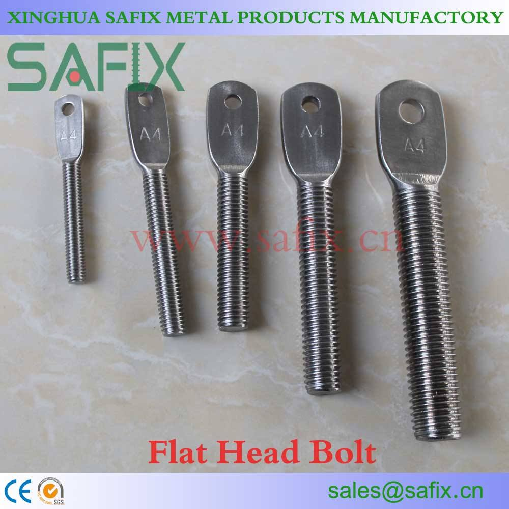 304 316 Flat Head Bolt of Stone Cladding Fixings for Marble Fixing System