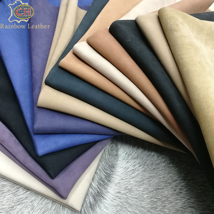 China Supplier Finishede Genuine Natural Dry Milled Leather Sheep Nubuck for Shoes and Boots