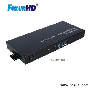 8 port HDMI splitter over cat5e/6 for multi display system SX-SPE108 1x8 splitter HDMI extender