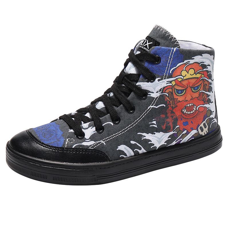 IDX 2020 Graffiti Famous Men's Canvas For High-Up Leisure Shoes