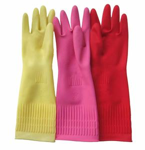 extra long sleeve 38cm Korea household kitchen cleaning laundry washing waterproof latex rubber gloves
