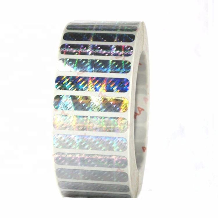 Hoge Veiligheid custom 3d Reflecterende Transparante Pvc Vinyl hologram sticker label in roll