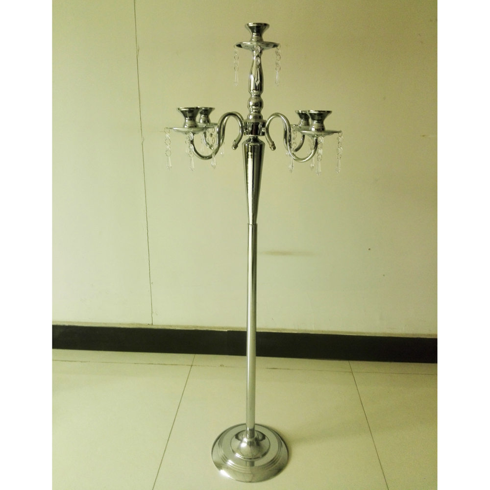 high 5 arms wrought iron floor standing used candelabra for weddings and party