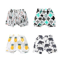 Best Quality Summer Baby Boys Girls Shorts Cute Fashion Fruit Vegetable Animal Pattern Cartoon Cotton Toddler Baby Harem Pants
