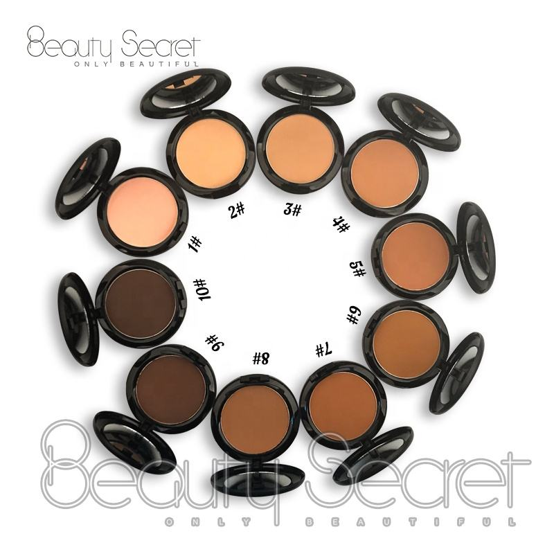 Private label mineral pressed powder matte foundation for black skin