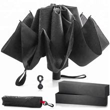 Automatic Open and Close - with Waterproof Canopy & Inverted Ribs that Folds Backwards Umbrella for business or gift