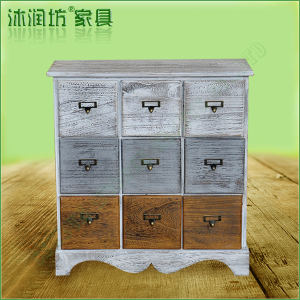 Hot selling Environmental wood furniture, Ancient Wooden cabinets with 9-drawers