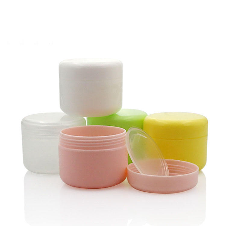 empty plastic cosmetic jars 10g 20g 30g 50g 100g 150g 250g colors PP cream face cream jars white plastic cosmetic jars