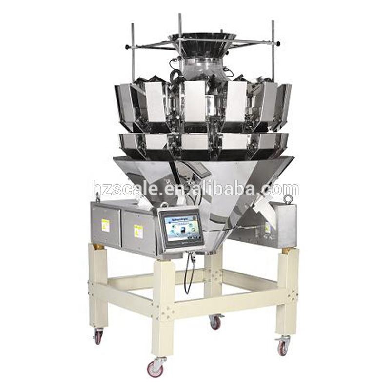 Automatic CE A14 model weighing balance 2.5L hopper plain plate combination multihead weigher for lentils packaging Canada