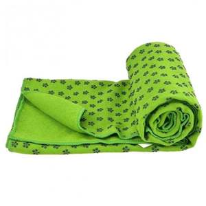 OEM Natural TPE suede foldable yoga towel 173cm*61cm printed travel yoga mat support