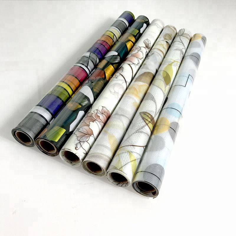 PVC waterproof privacy protection stained glass window film roll