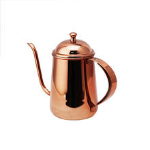 Top level new coming modern stainless steel copper water tea pot