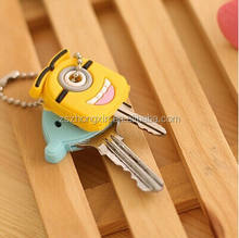 Promotional Cartoon Image rubber Key Cover For Car Keys