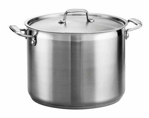 NSF approved 30 liter stainless steel cooking pot soup and stock pot with lid