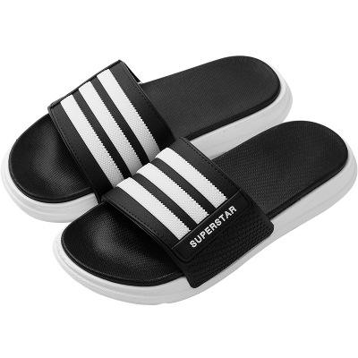 Summer beach home stripe individual character tide is antiskid soft thick bottom wear-resisting man pvc slipper