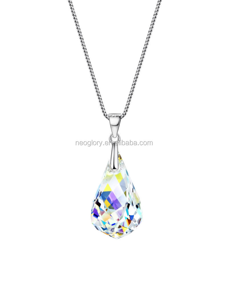 China Refined Sparking Colorful Prom 925 Sterling Silver Jewelry Set Wholesale Made With Swarovski Elements
