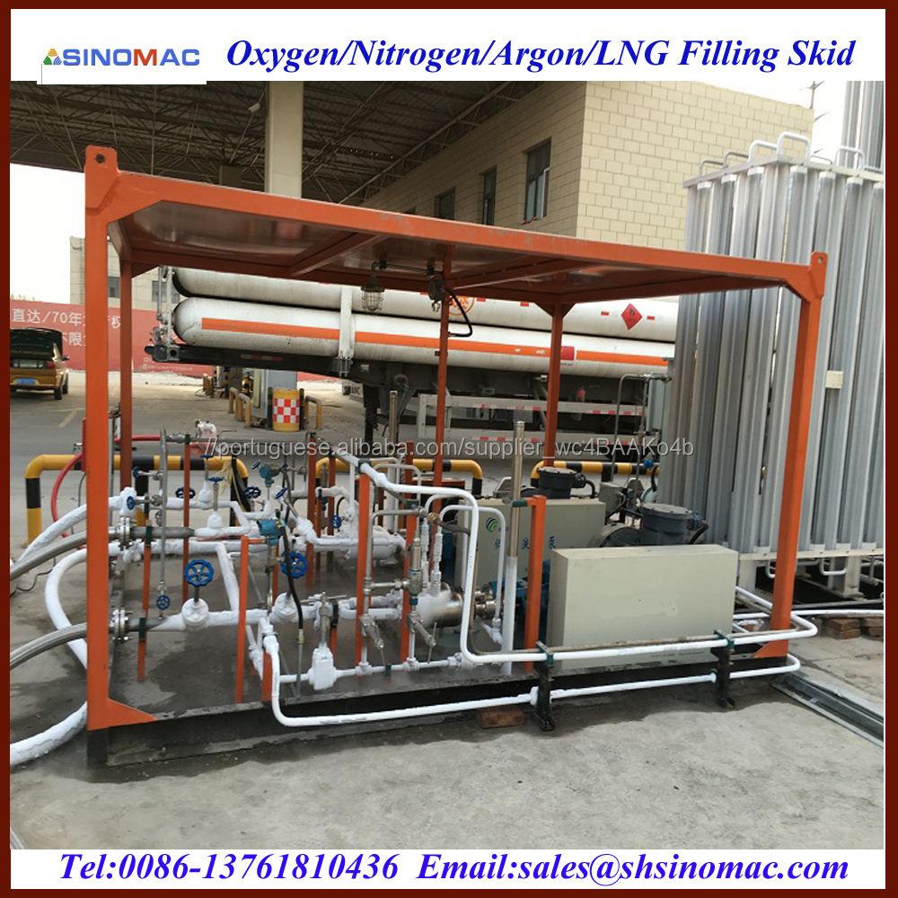 Movable L-CNG Enchimento Skid Estação Planta Fabricantes