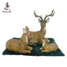 8 Inch Resin Craft Lively Decorative Animal Family Statues Deer