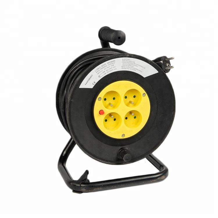 50メートルWaterproof Retractable French Cable Reel Extension Reel