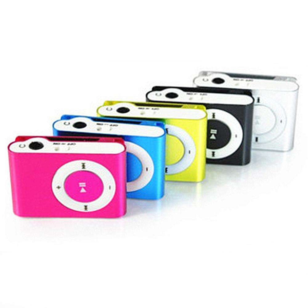Große förderung Spiegel Tragbare MP3 player Mini Clip MP3 Player Wasserdichte Sport MP3 Musik Player