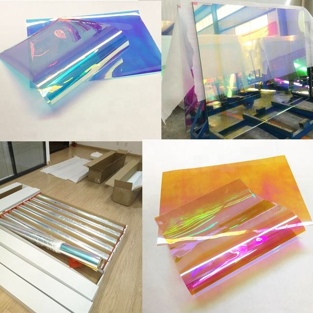 USA 3M Quality Decorative Function and PET Glass Cling Dichroic Window Film