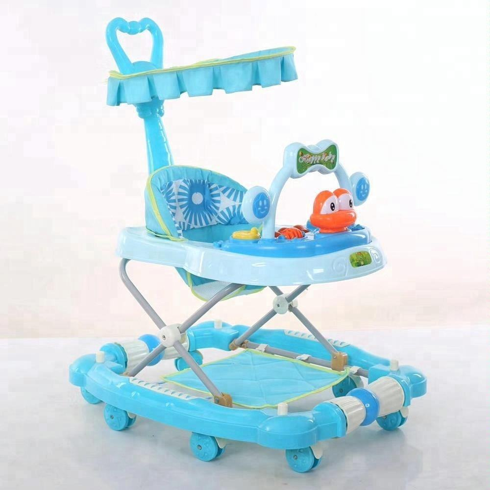 2018 New cute baby walker with handle and sunshade