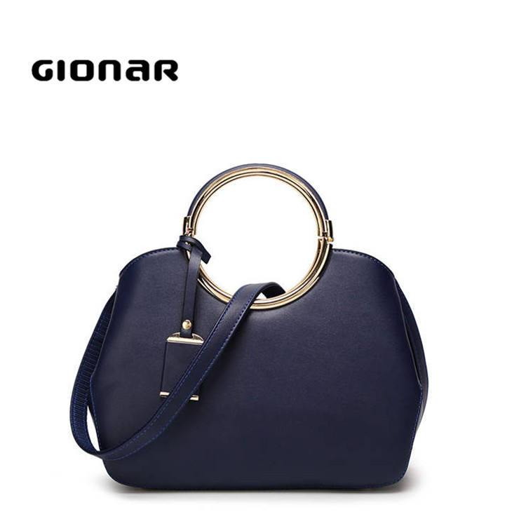 High quality bracelet circle ring handle new model purses and ladies thailand wholesale blue tote handbag