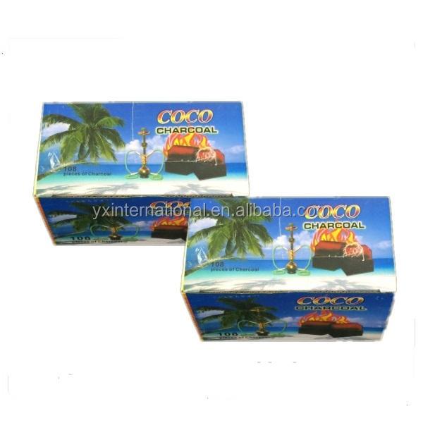 2015 New Produced Coconut Shell Charcoal Briquettes for Shisha / Hookah